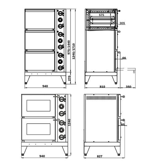 Схема жарочного шкафа «ЭТШж»: